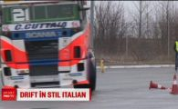 Un italian a facut drifturi cu Tirul la Timisoara! Vrea sa-l plimbe pe Ronaldo cand se intoarce in Italia