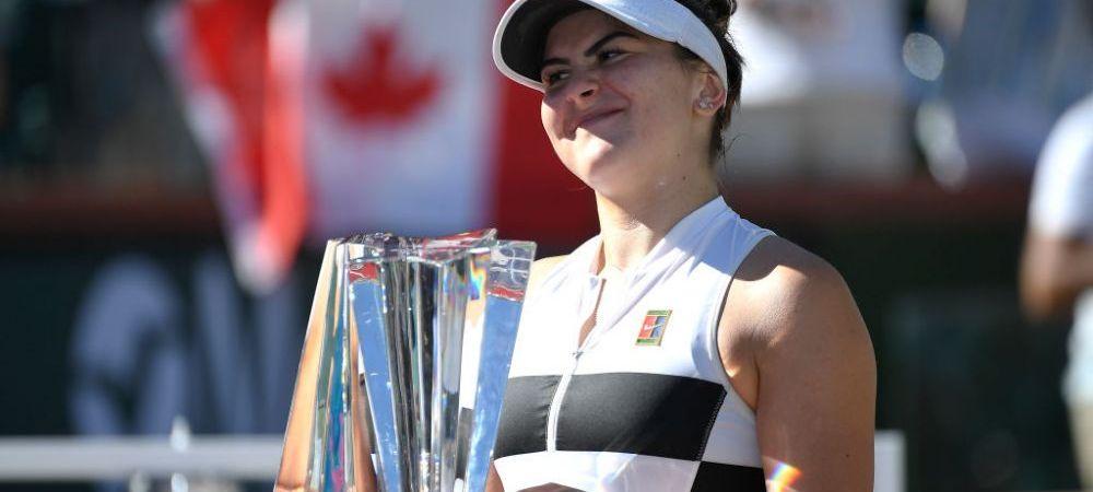 """BIANCA ANDREESCU, CAMPIOANA LA INDIAN WELLS   """"Fata asta cu forta mentala de calugar tibetan"""" CTP, despre noua stea a tenisului"""