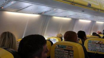 Ce au facut doi barbati in timpul unui zbor Ryanair. Politia i-a ARESTAT imediat cum au aterizat. VIDEO