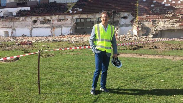 """Gica Popescu, in inspectie pe santierele din Giulesti si Ghencea! Care e stadiul lucrarilor: """"Suntem in grafic!"""" Reactia lui Popescu dupa ce a vazut ruinele """"Templului"""""""