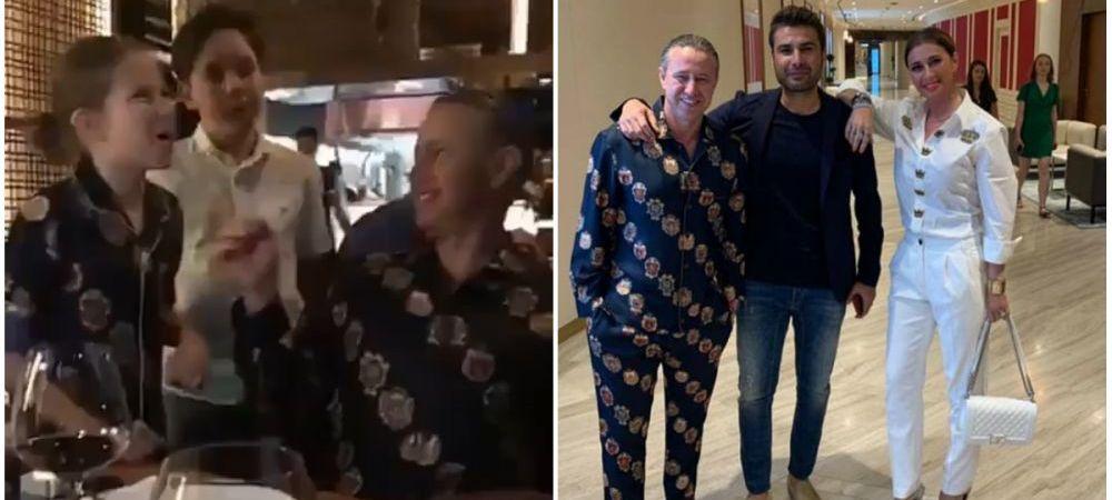 Mutu i-a dus pe Reghe si Anamaria la restaurantul lui Salt Bae din Dubai. Tinuta SOC pentru fostul antrenor al Stelei. FOTO