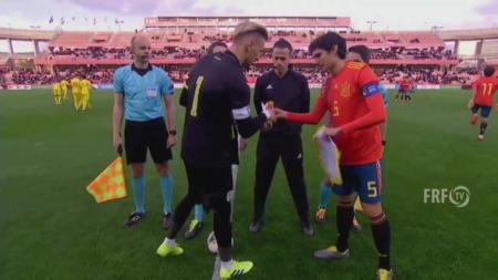 SPANIA U21 - ROMANIA U21 1-0 | Fara multi jucatori importanti, nationala lui Radoi a pierdut dupa o faza fixa! Rus a ratat o ocazie mare pe final