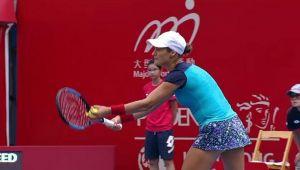 MONICA NICULESCU - GARBINE MUGURUZA   Nebunia facuta de Monica la punctul de meci: a servit din mana! Ce s-a intamplat apoi