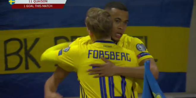 VIDEO: Cum a incasat Romania primul gol la Stockholm! Grigore a gresit la reusita lui Quaison de 1-0: VIDEO