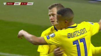 "VIDEO: Romania, anesteziata la Stockholm! Claesson a facut 2-0 dupa o faza plecata de la o ""floricica"" ratata Stanciu"