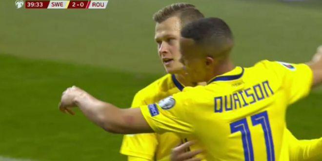 VIDEO: Romania, anesteziata la Stockholm! Claesson a facut 2-0 dupa o faza plecata de la o  floricica  ratata Stanciu