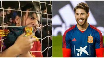 Asa arata dragostea adevarata! Cum a reactionat un fan cand Sergio Ramos i-a oferit tricoul sau! VIDEO FABULOS!