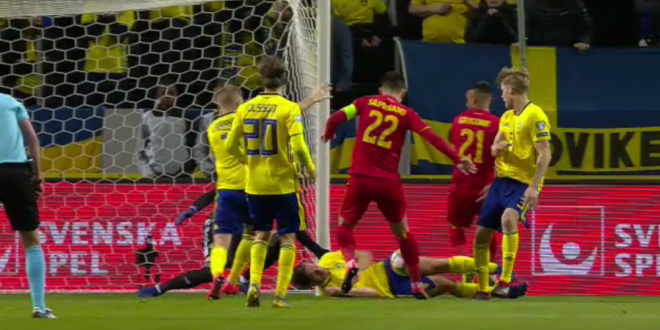SUEDIA - ROMANIA 2-1 | A FOST PENALTY?! VIDEO - Faza la care jucatorii nationalei au cerut 11 metri, in prelungiri