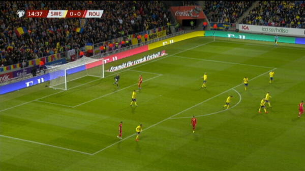 Ocazie Romania in meciul cu Suedia! Chipciu trage, dar Olsen retine. VIDEO