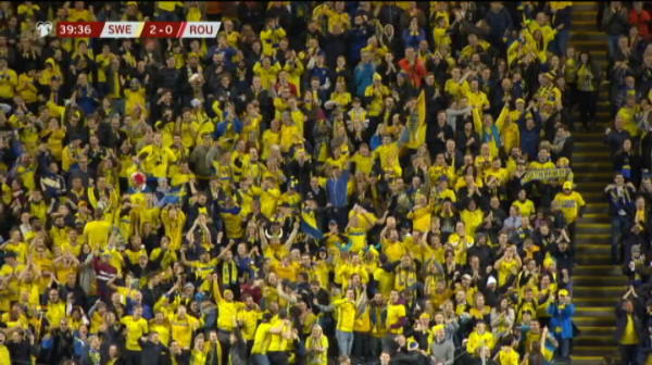 GOL SUEDIA! Claesson face 2-0 pe Friends Arena, la o faza la care apararea Romaniei a dormit. VIDEO