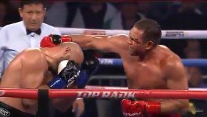 Bogdan Dinu, facut KO de Pulev dupa un moment controversat. Romanul a fost lovit ilegal dar arbitrul nu l-a descalificat   VIDEO