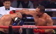 Bogdan Dinu, facut KO de Pulev dupa un moment controversat. Romanul a fost lovit ilegal dar arbitrul nu l-a descalificat | VIDEO