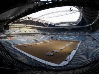 Gazonul de pe un stadion din Qatar, instalat in TIMP RECORD! Cum arata arena de LUX pentru CM 2022. VIDEO