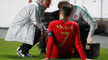 """Cat de grava e accidentarea lui Cristiano Ronaldo! Anuntul lui Allegri dupa ce portughezul """"s-a rupt"""" in preliminariile EURO 2020: """"Nu vom risca!"""""""