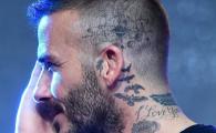 Colectia de tatuaje a lui Beckham a ajuns la 51! Ultima NEBUNIE a starului englez: ce si-a tatuat deasupra urechii