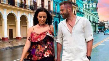 Pulhac si-a dus sotia in a DOUA luna de miere, in Cuba. Raluca si-a etalat costumele de baie minuscule. FOTO