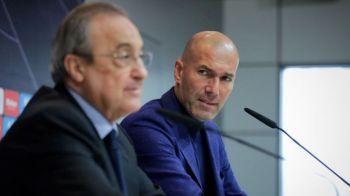 Primele neintelegeri la Real Madrid! Florentino Perez si Zinedine Zidane nu pot fi de acord! Care este motivul problemelor!