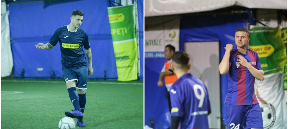 UEFAntasticii Stelei, performanta dupa retragere! Echipa lui Radoi, Petre Marin si Ghionea, aproape de titlu la mini fotbal. FOTO