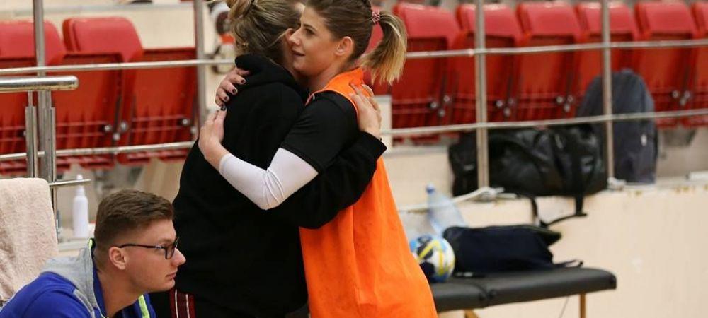 O handbalista de la CSM Bucuresti, accidentata de 5 luni, a revenit in sala la antrenamentul echipei