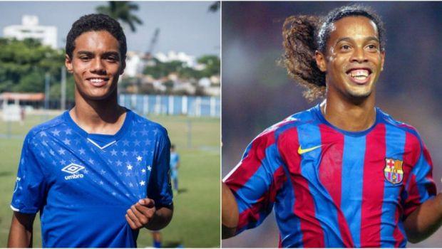 """Fiul lui Ronaldinho a semnat cu un club urias fara ca oficialii echipei sa stie cine e de fapt: """"Au aflat abia dupa ce i-au remarcat talentul"""""""