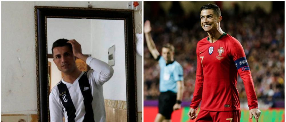 Cristiano, tu esti? :)) Ronaldo si-a gasit sosia in Irak! Cum arata fotbalistul confundat cu starul lui Juventus! FOTO