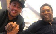 """""""Cu regele"""". Neymar l-a vizitat pe Pele la spital! Care este starea de sanatate a fostului fotbalist"""