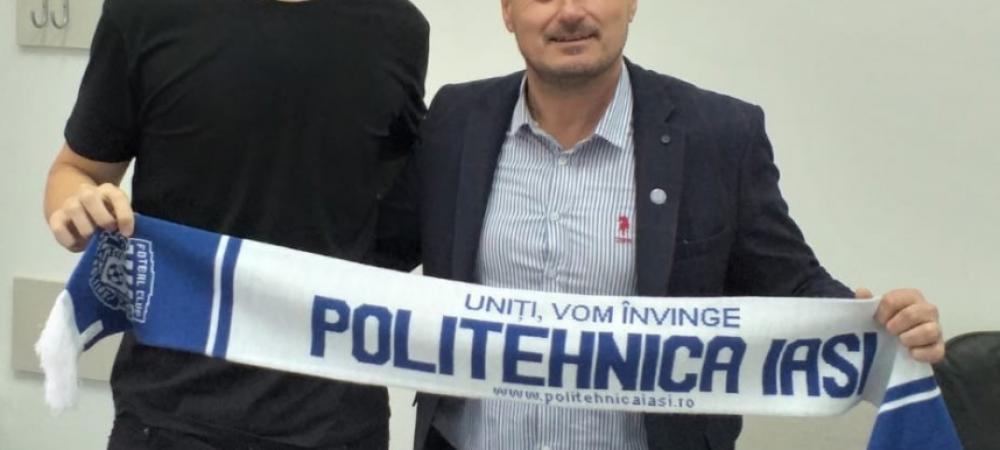 Poli Iasi tocmai a transferat cel mai inalt fotbalist din Liga I si l-a prezentat intr-un mod GENIAL! Jucatorul n-a incaput in poza :))