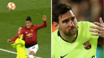 Messi, fata in fata cu Smalling la vestiar dupa ce s-a ales cu nasul spart. Cum a reactionat argentinianul