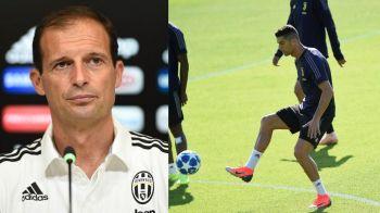 Cristiano Ronaldo, OUT! Antrenorul lui Juventus a facut anuntul inaintea meciului cu SPAL din Serie A