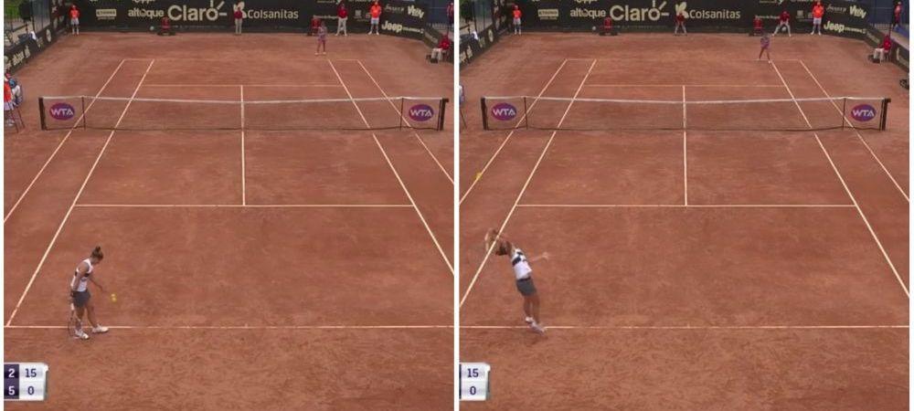 """""""Esti o RUSINE pentru tenis"""" O fosta finalista de la Roland Garros s-a facut de ras in meciul cu Irina Bara de la Bogota. Scene revoltatoare"""