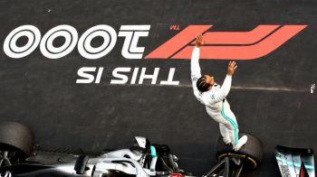Lewis Hamilton, victorie pentru istorie! Englezul a castigat cursa 1000 din Formula 1. E lider la general
