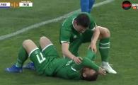 VIDEO IREAL! Keseru l-a RUPT pe Adi Popa dupa gol! Ciocnire VIOLENTA! Popa a avut nevoie de ingrijiri. Ce s-a intamplat