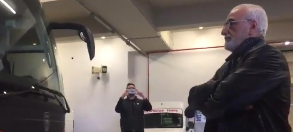 """Moment fabulos dupa egalul care amana titlul pentru Razvan Lucescu! """"Becali"""" al lui PAOK l-a asteptat la autocar! Ce s-a intamplat apoi: VIDEO"""
