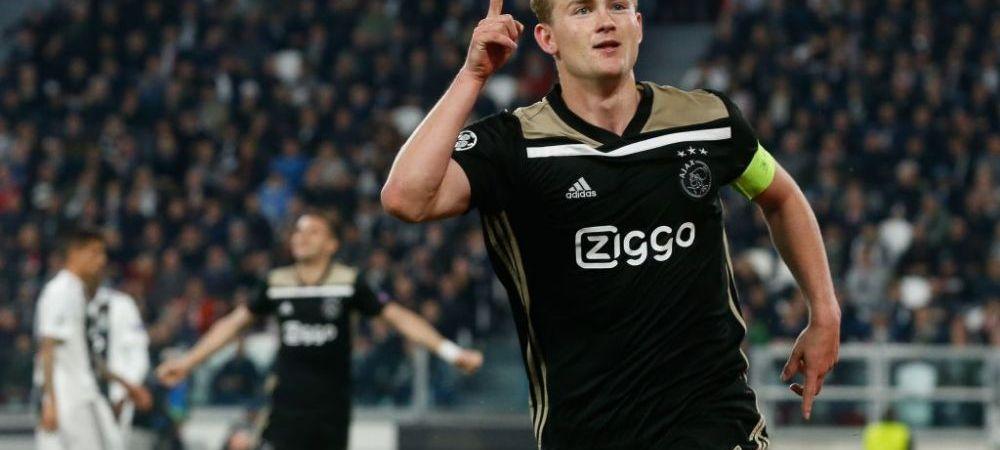 """Transferul lui De Ligt pentru 80 de milioane de euro este aproape finalizat: """"Situatia este sub control!"""" Pe cine a ales EROUL lui Ajax"""