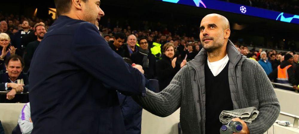 Nici antrenorii nu au inteles ce se intampla :) Reactia lui Pochettino la 2-2: ce i-a transmis lui Guardiola chiar in timpul meciului