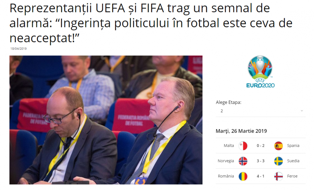 FIFA si UEFA avertizeaza: Romania poate iesi din fotbal!!! Mesajul de ultima ora postat de FRF: