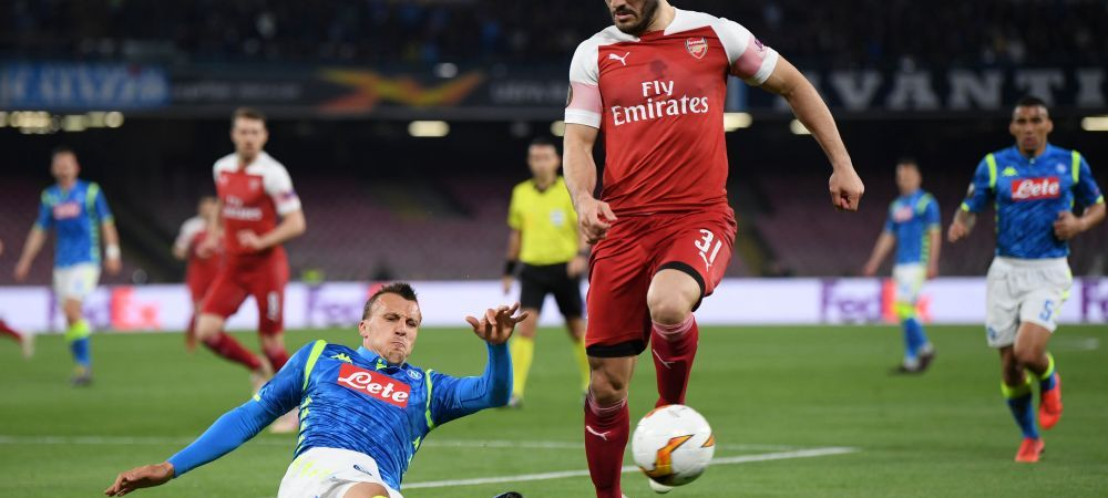 Arsenal - Valencia si Eintracht - Chelsea sunt semifinalele Europa League | Hategan i-a anulat 2 goluri lui Napoli, Slavia a reusit un meci fabulos pe Stamford Bridge si a sperat la calificare
