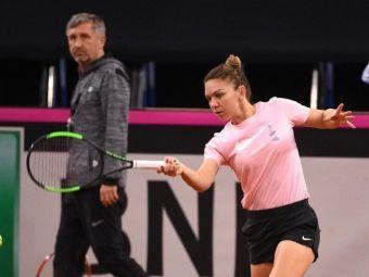 """FRANTA - ROMANIA FED CUP   Simona Halep si-a iesit din minti la antrenament! Romanca, extrem de nervoasa in sala de la Rouen: """"Ho, ba! Dar gandeste!"""""""