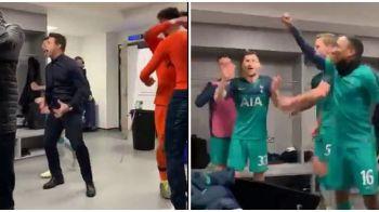 Imagini FABULOASE in vestiarul lui Tottenham dupa ce a eliminat-o pe Manchester City! Pochettino a copiat bucuria indecenta a lui Simeone! VIDEO