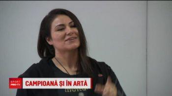 O luptatoare din Romania e campioana mondiala si picteaza icoane! Ea a terminat teologia