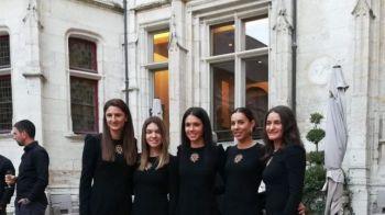 FRANTA - ROMANIA FED CUP | Cum au aratat romancele la dineul oficial dinaintea semifinalei FED Cup! Frantuzoicele au impresionat in rochite rosii. FOTO