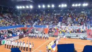 FRANTA - ROMANIA FED CUP | A EXPLODAT SALA! Francezii, redusi la tacere la ei acasa: reactia fanilor romani la imn | VIDEO
