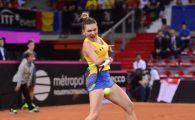 FRANTA - ROMANIA FED CUP | Simona Halep deschide drumul Romaniei catre finala! Reactie FABULOASA a spectatorilor romani! VIDEO