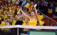 GALERIE FOTO: Simona Halep i-a adus Romaniei primul punct in meciul pentru finala Fed Cup