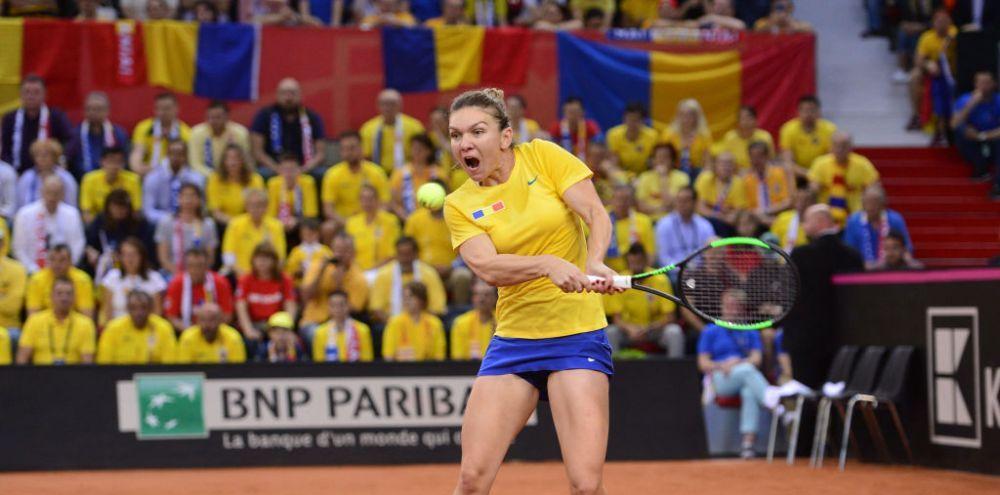 FRANTA - ROMANIA FED CUP | Simona Halep, prima reactie dupa victoria FABULOASA cu Caroline Garcia!