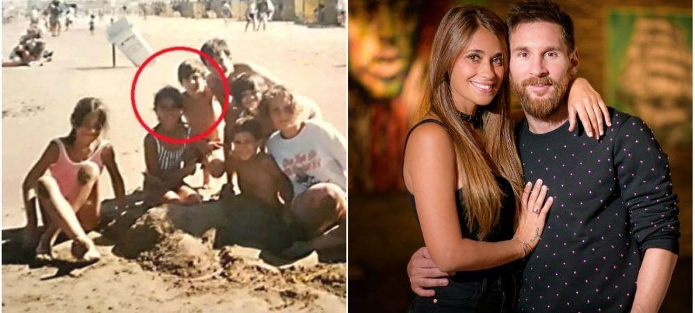 Messi are doua iubiri de o VIATA: Antonella si Barcelona! Imagine nemaivazuta pana acum din copilaria starului argentinian alaturi de iubita. FOTO