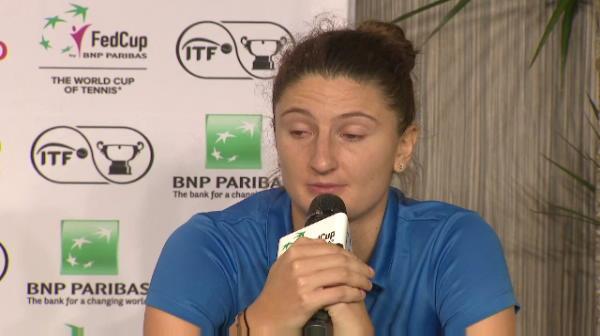 Irina Begu, in lacrimi la conferinta de presa!