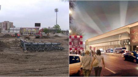 Stadionul Giulesti, DARAMAT dupa 80 de ani! Cum arata lucrarile pentru arena pregatita pentru EURO 2020. FOTO