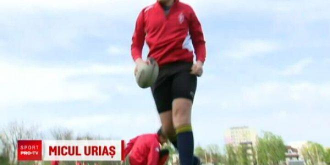 Are 2 metri si 100 de kilograme la 14 ani! Viitorul star al nationalei Romaniei de rugby:  Vreau sa ajung mare!