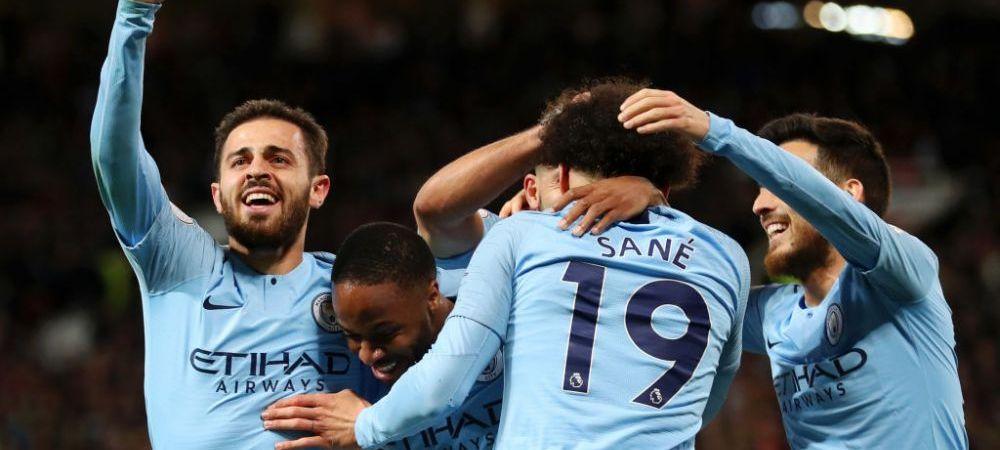 MANCHESTER UNITED - MANCHESTER CITY 0-2   Echipa lui Pep Guardiola trece marele test si e favorita la titlu! Trei meciuri ramase de jucat in Premier League